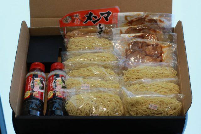 生姜醤油ラーメンの材料