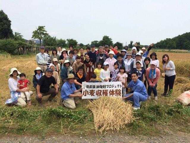 小麦収穫体験 集合写真