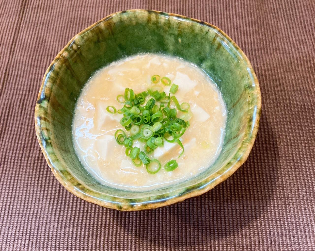 白だし豆腐の卵とじの材料