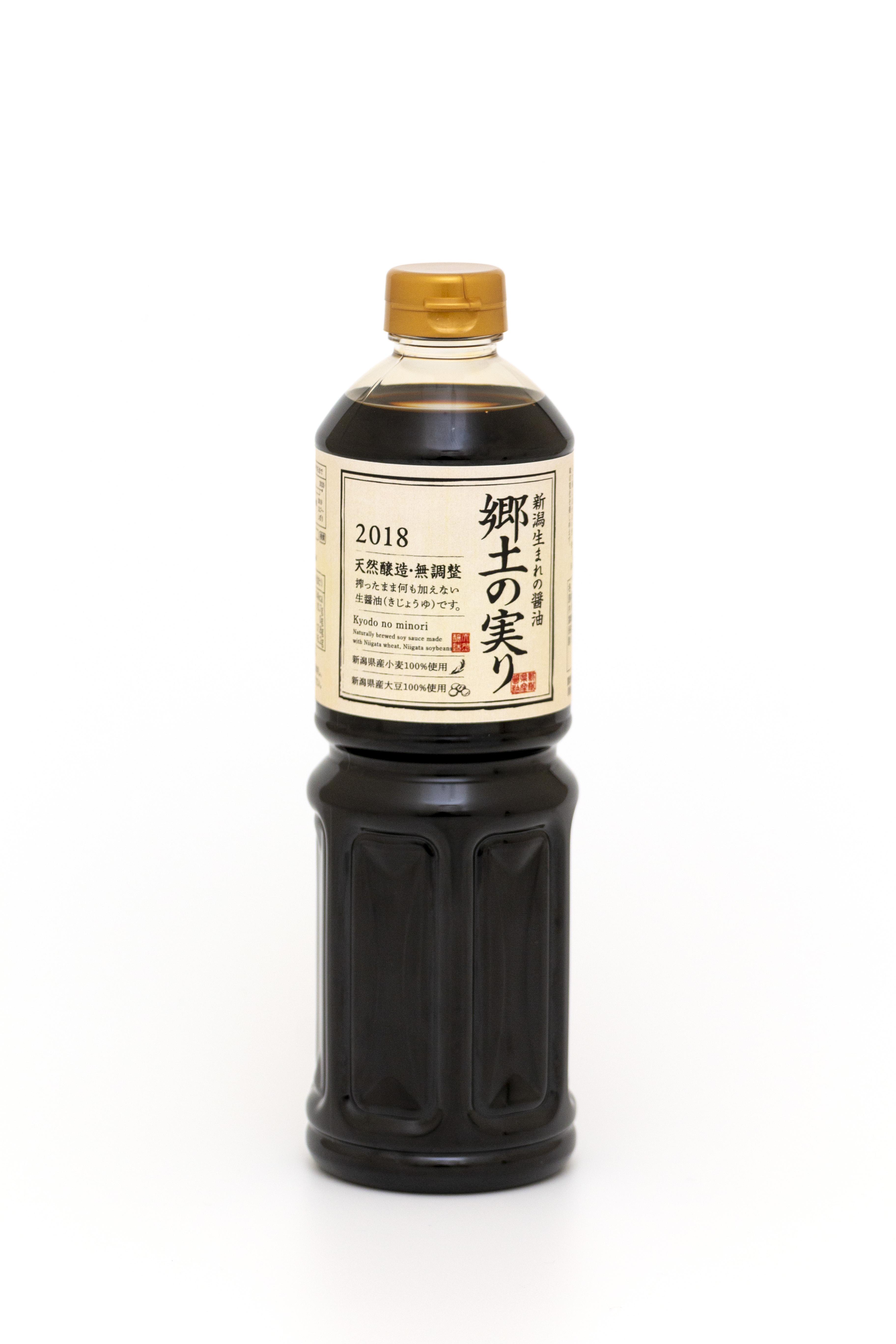 新潟県産生(き)醬油 郷土の実り 1L