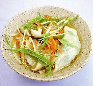 野菜たっぷりスープギョーザ