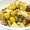 鶏肉と栗・里いもの煮物(中華風)