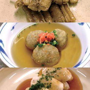 根菜で簡単ヘルシー!ゴボ天蒲焼・蓮根団子の明石焼き風・里芋のニョッキ