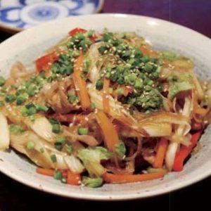 白菜と豚肉の和風チャプチェ