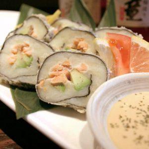 「佐渡情話+マヨネーズ」特製ソースで食べる ジャガイモの磯部揚げ